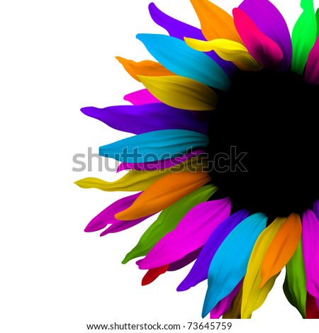 brochure layout flower background - stock vector