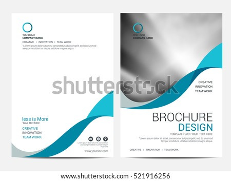 Brochure Layout template, cover design background, annual reports.
