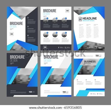 Brochure Layout Vector Set Business Six Stock Vector - Brochures templates