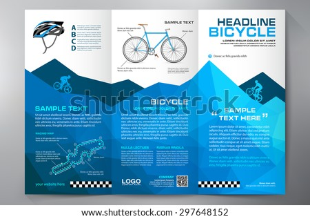 Brochure leaflet design tri-fold template. Vector illustration - stock vector