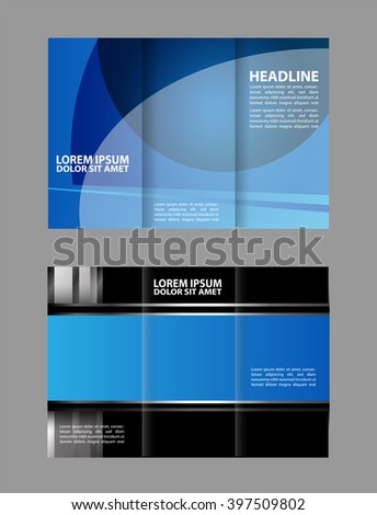 Creative Professional Brochure Template Flyer Design Stock Vector