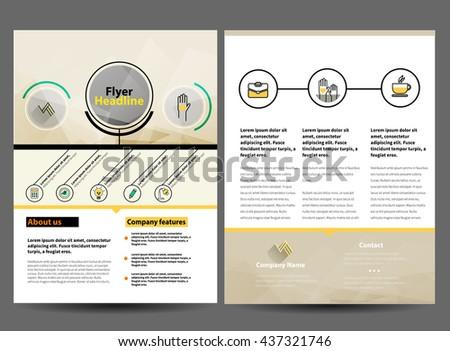Brochure or Flyer Design Template in letter size - stock vector