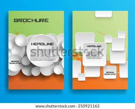 Brochure or Flyer Design Template Vector . Cover, Flyer, Report , or Leaflet Design . Abstract Background . Modern Poster . Layout Magazine Design . Futuristic Background . Technology Background .  - stock vector