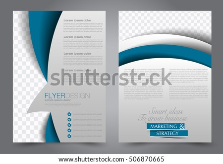 Brochure Template Business Flyer Annual Report Stock Vector Hd
