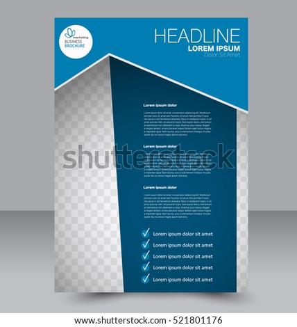 Vector Brochure Flyer Design Layout Template Stock Vector ...