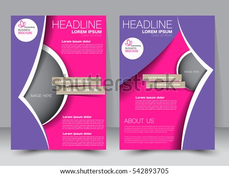 Brochure Template Business Flyer Annual Report Stock Vector - Editable brochure templates