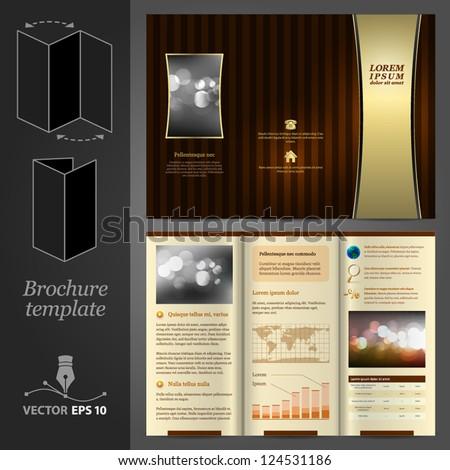 Brochure Template Design - stock vector