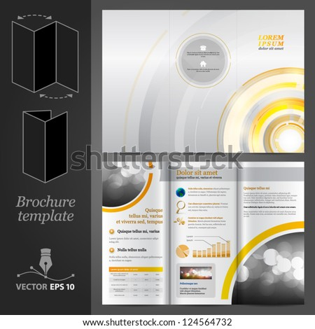 Brochure Template Design - stock vector
