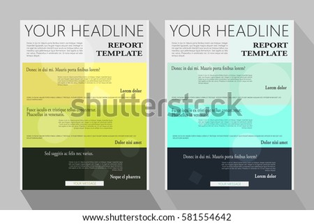 Trifold Brochure Templatecorporate Business Background Cover Stock ...