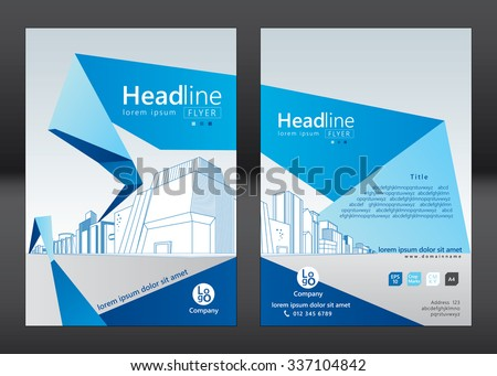 Brochure Template Design Concept Architecture Design Stock Vector