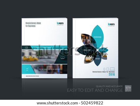 Brochure Template Layout Collection Cover Design Stock Vector - Consulting brochure template