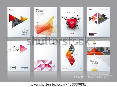 Brochure Template Layout Cover Design Annual Stock Vector - 3d brochure template