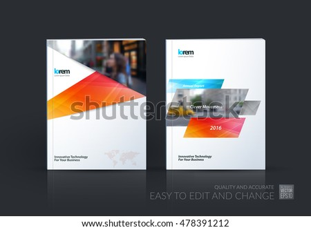 technical brochure template - brochure template layout cover design annual stock vector