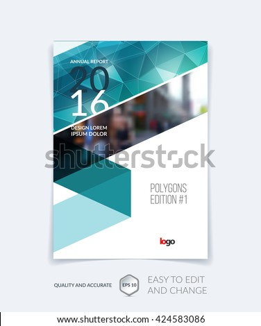 Brochure Template Cover Design Annual Report Stock Vector