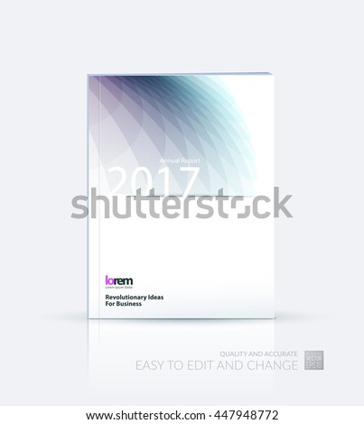 Brochure template layout, cover design annual report, magazine, flyer or booklet in A4 with grey soft wave flower shapes for business and beauty template with beautiful overlap effect. Vector. - stock vector