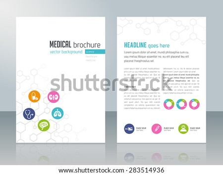 Brochure template - medical topics, healthcare, science, technology. - stock vector