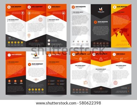 Brochure Template Set Place Logo Corporate Stock Vector 580622398