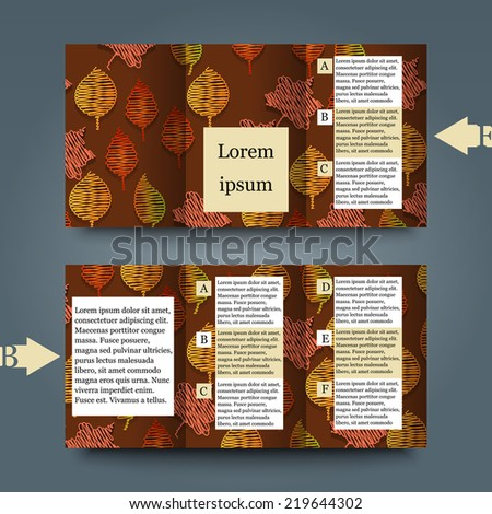 Brochure template with abstract background. Eps10 Vector illustration - stock vector