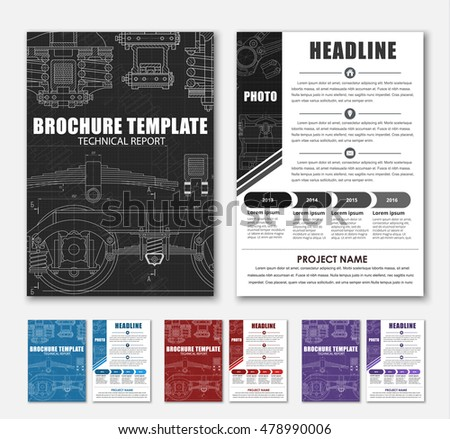 technical brochure template - car engine line drawing stock images royalty free images