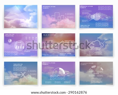 Brochures for business reports, templates for presentation - stock vector