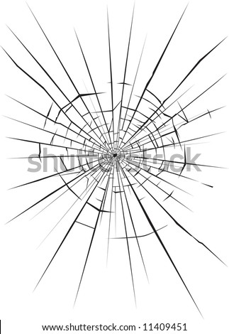 Broken glass 3 - stock vector