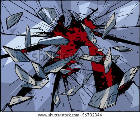 Broken glass - stock vector