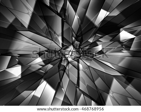 Broken glass background, vector