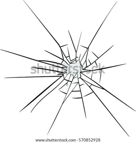 broken glass effect hole broken glass stock vector 570852928 rh shutterstock com broken glass vector free shattered glass vector