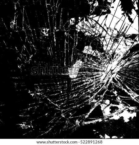 broken glass overlay texture your design stock vector