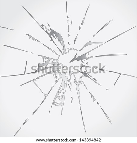 Broken glass vector - stock vector