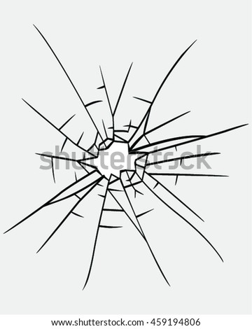 Broken glass vector