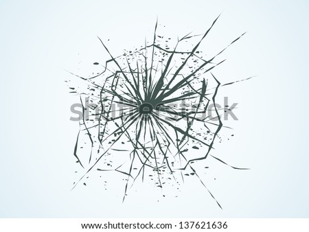 Broken glass. Vector illustration - stock vector