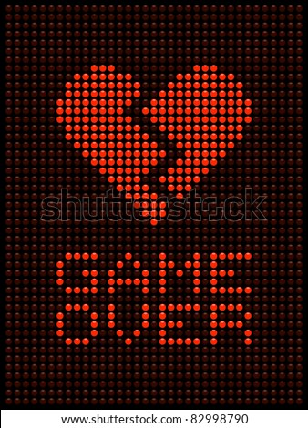 Broken Heart, Divorce / Break Up - stock vector