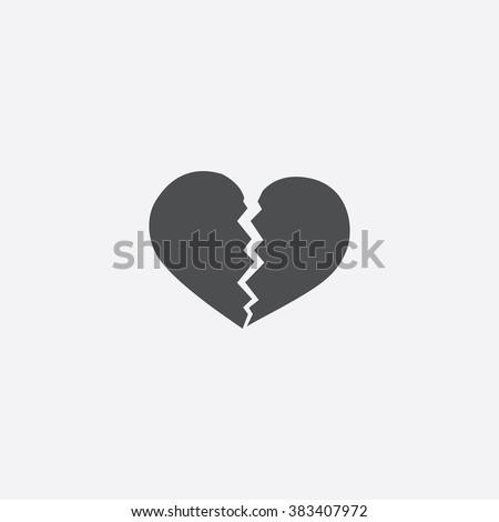 broken heart Icon. broken heart Icon Vector. broken heart Icon Art. broken heart Icon eps. broken heart Icon web. broken heart Icon logo. broken heart Icon Sign. broken heart Icon Flat. heart icon app - stock vector