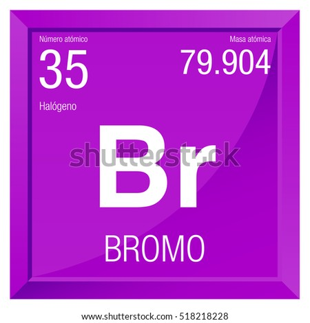 Bromo symbol bromine spanish language element stock vector 518218228 bromo symbol bromine in spanish language element number 35 of the periodic table of urtaz Image collections
