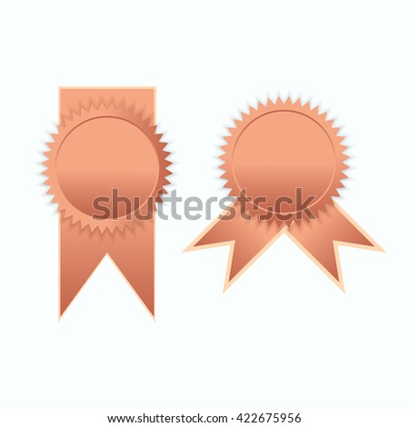 Bronze label icon sign elegance vector illustration - stock vector