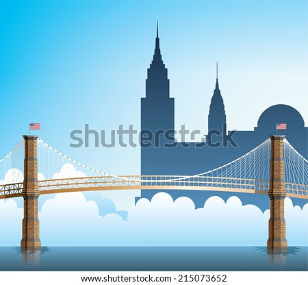 Brooklyn Bridge - stock vector