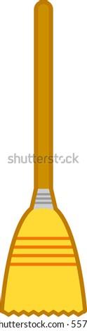 broom - stock vector