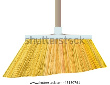 broom isolated on white background - stock vector