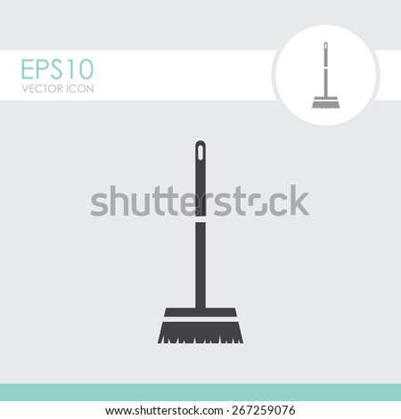 Broom vector icon. - stock vector