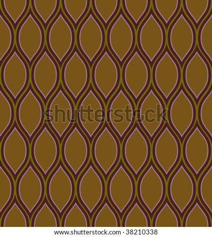 Brown and purple seamless wavy background pattern - stock vector