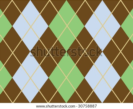 Brown argyle pattern - stock vector