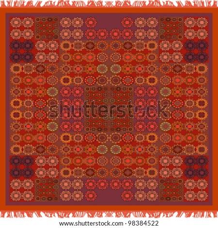 brown carpet background - stock vector