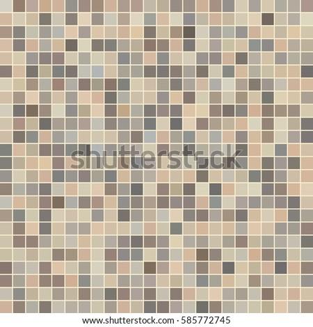 Brown Ceramic Tile Mosaic Swimming Pool Stock Vector HD (Royalty ...