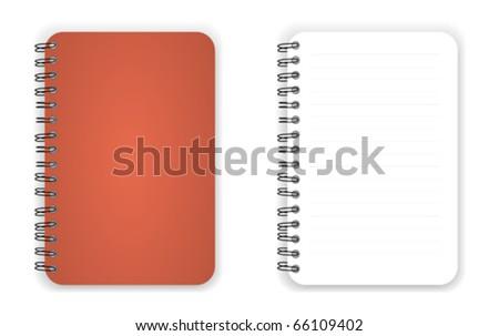 Brown color blank Notebook vector - stock vector
