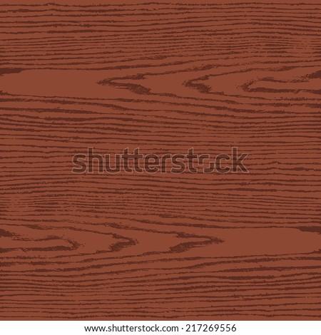 Brown color wood texture background in square format. Natural pattern swatch template in flat style. Realistic plank with annual years circles. Design elements save in vector illustration 8 eps - stock vector