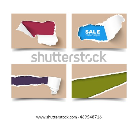 Ripped edge stock images royalty free images vectors for Craft paper card stock