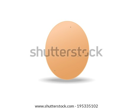 brown egg on white background - stock vector