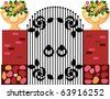 Brown Gateway - stock vector
