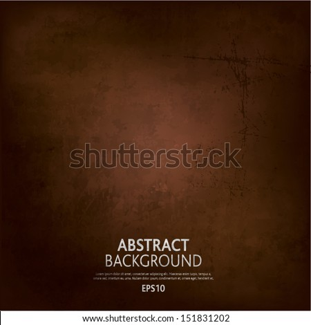 Brown Grunge background - stock vector